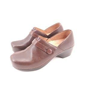 Dansko 41 Brown Leather Clogs